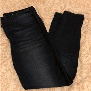 Jeans with velvet